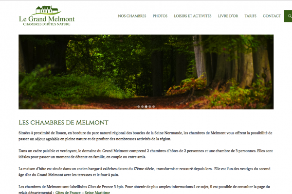 Site web - Le Grand Melmont